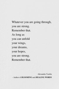 Unfold Your Wings - Inspiring Poem by Alexandra Vasiliu, Author of Blooming and HEALING WORDS