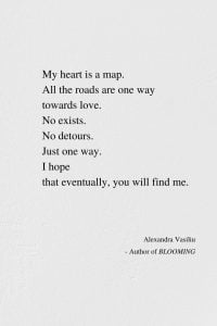 My Heart Is A Map - Poem by Alexandra Vasiliu, Author of BLOOMING