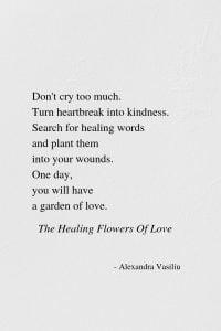 The Heart's Garden Poem by Alexandra Vasiliu