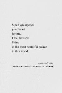 The Most Beautiful Palace In The World - Poem by Alexandra Vasiliu, Author of BLOOMING and HEALING WORDS