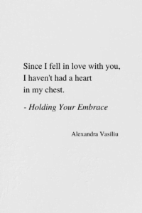 Falling In Love - Poem by Alexandra Vasiliu, Bestselling author of HEALING WORDS, BE MY MOON, BLOOMING, and PLANT HOPE