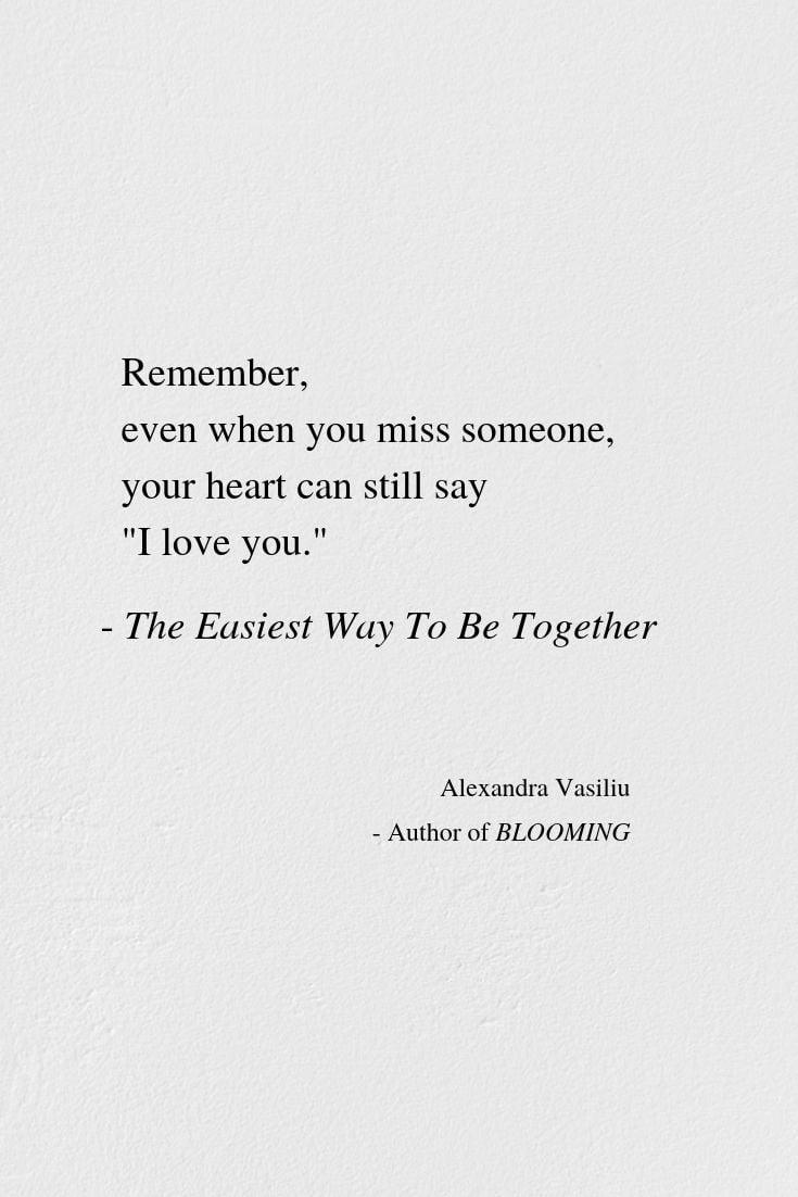 Poem still missing you Missing You,