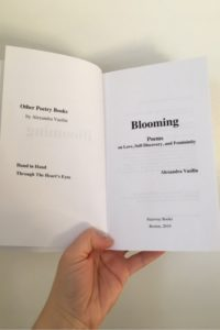 BLOOMING, A Poetry Book by Alexandra Vasiliu
