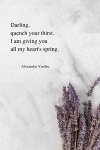 Drink My Heart's Poem Alexandra Vasiliu
