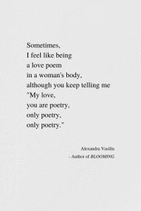You Are Only Poetry by Alexandra Vasiliu, Author of BLOOMING