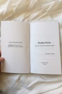 Healing Words A Poetry Collection For Broken Hearts by Alexandra Vasiliu