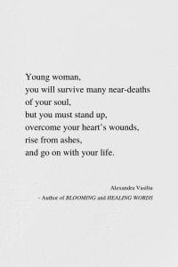 Rise From Ashes - Inspirational Poem by Alexandra Vasiliu, Author of Blooming and Healing Words