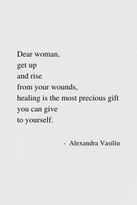 Healing Is A Gift - Poem by Alexandra Vasiliu, Author of BLOOMING and HEALING WORDS