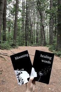 BLOOMING and HEALING WORDS - Poetry books by Alexandra Vasiliu