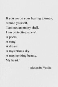 On Your Healing Journey - Empowering Poem by Alexandra Vasiliu, Author of Blooming and Healing Words