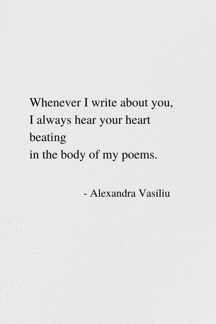 Writing About You - Poem by Alexandra Vasiliu, Author of BLOOMING and HEALING WORDS