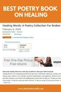 HEALING WORDS - Best Poetry Book by Alexandra Vasiliu