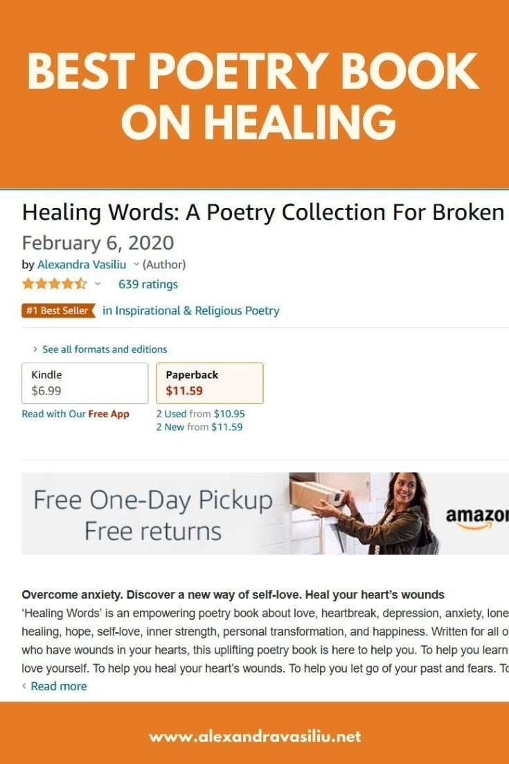 HEALING WORDS - Best Poetry Book by Alexandra Vasiliu